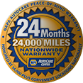 24 Months / 24,000 Mile Nationwide NAPA Auto Care Center Warranty on Mechanical Repairs